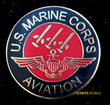 AUTHENTIC US MARINE AVIATION PILOT AIRCREW WING HAT PIN MCAS USS MAR AIR WING