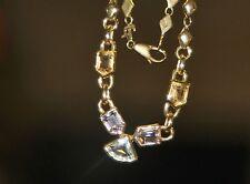 "C18 Estate Vintage 18K Yellow GOLD PENDANT NECKLACE 18"" Real Gemstones 16.4g"