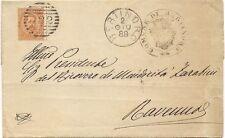 P8902   Ravenna, Bertinoro, annullo numerale a sbarre, 1888