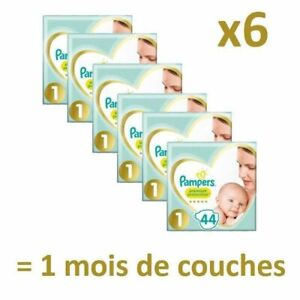 PAMPERS New Baby Taille 1 - 2 à 5Kg - 264 couches - Format pack 1 mois