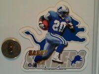 Barry Sanders Detroit Lions NFL football die-cut Fridge Magnet NOS 1996
