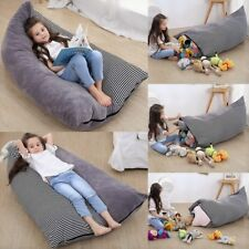 Storage Toy Stuffed Animal Toys Bean Bag Chair Canvas Portable XXL Soft