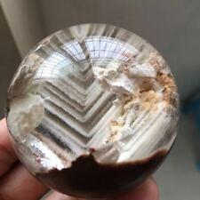 190g 55mm nature Phantom/Ghost Quartz Crystal gemstone sphere ball reiki