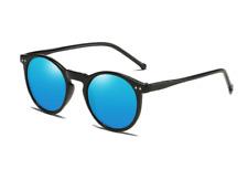 2020 Polarized Sunglasses Men Brand Designer Retro Round Sun Glasses