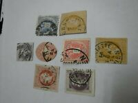 Lot of 8 Austrian Stamps-Some Hand Cut, Newspaper-Kreuzers