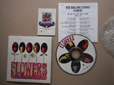 ROLLING STONES FLOWERS  RARE JAPANESE CD + INSERT COLLECTION CARD EXC