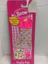 Barbie Fruity Fun Fashions Lemon Iime Scented Fashion Stickers New on Card 1998