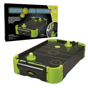 NEON AIR HOCKEY SPORTS TABLE GAME TOYS GIFTS GAMES RETRO TOY INDOOR FUNTIME UK