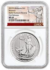 2019 Great Britain 1 oz Silver Britannia Coin NGC MS69 FR Excl SKU55878