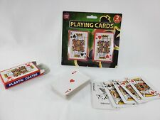 Playing Cards 2 Pack, Plastic Coated Poker Size Playing Cards Set