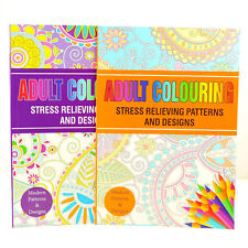 Colour Therapy Anti-Stress Adult Colouring Books – Relax
