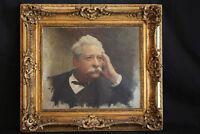 Stephane Leroy, Portrait d'homme, HST, XIXème / Stephane Leroy,  Portrait, 19th