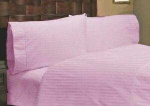 Pink Stripe Attached Waterbed Sheet 1000 TC 100% Cotton With POLE Attachment