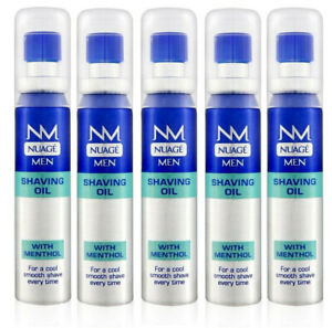 5 x Nuage Men Shaving Oil With Menthol 25ml, Cool Fresh & Smooth Shave