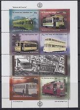RAILWAYS: ARGENTINA 1997 Centenary of Electric Tramway sheetlet SG2531-6 MNH