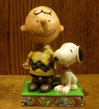 "Jim Shore PEANUTS #4042387 ""LIFE IS BETTER WITH A DOG"" From Retail Store, Enesco"
