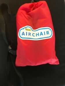 Red Zuru Original Air Chair W/ Carrying Bag Brand New But Missing Package