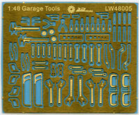 Alliance Model Works A-LW48005 1/48 Mechanic Tools (Connectionless Photoetch)