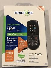 Brand new Sealed! Tracfone Wireless Alcatel OneTouch A205G PrePaid Cell Phone