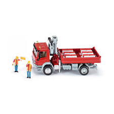 Siku 3534 Mercedes Atego flatbed truck with crane red Scale 1:50 NEW! °