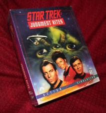 Star Trek Judgement Rites PC Game DOS CD-ROM New Sealed Interplay