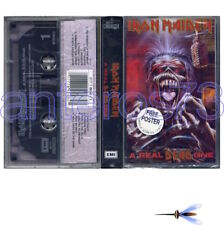 """IRON MAIDEN """"A REAL DEAD ONE"""" RARE K7 + POSTER - SEALED"""