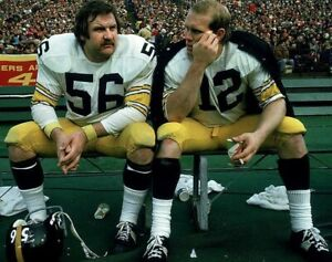 RAY MANSFIELD TERRY BRADSHAW 8X10 PHOTO PITTSBURGH STEELERS PICTURE NFL FOOTBALL