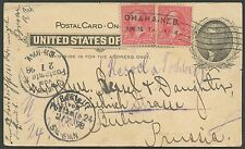 #UX14 ON TRANS-MISS EXPO ADVT CARD TO GERMANY 6/16/1898 SCARCE USAGE BS1327