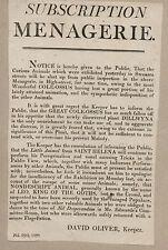 Rare 1820 English Political Satire Broadside by Oliver