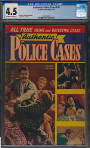 Authentic Police Cases 30 Golden Age Nov 1953 by St John Press Comic CGC 4.5
