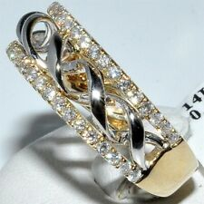 Men Yellow Gold Plated Eternity Band Ring For Wedding Engagement Jewelry Size 6