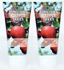 2 Bath Body Works SUNLIGHT & APPLE TREES Nourishing Hand Cream Lotion Moisture