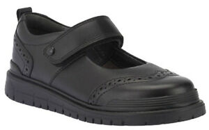 Start-Rite SPRING Girls Black Leather Riptape School Shoes 10 - 2 EFH Fit BNIB