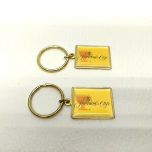 Lot of 2 The Presidents Cup Golf PGA Official Key Ring Made In USA (NOS)