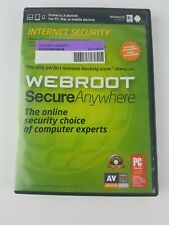 Webroot ~ Secure Anywhere Internet Security Software