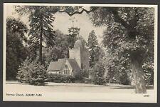 Postcard Albury Park near Guildford Surrey the Norman Church RP