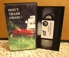 DON'T TRASH GRASS lawn mowing disposal VHS eco recycling fertilizer selection