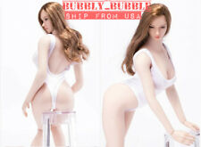 1/6 Female One Piece White Underwear Lingerie Swimwear For Phicen Hot Toys ☆USA☆