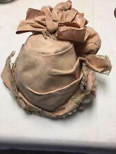 Antique Large Ladies Faded Orange Victorian Hat