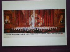 POSTCARD LTM-268 1986  POSTER CURTAINS FOR YOUR TRAVELCARD