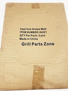 "CAST IRON GRATES MATT 84221  2PCS GRILL PARTS ZONE 17-1/4"" x 13"""