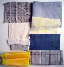SCRAP FABRIC LOT, 9 PIECES ***** LOT DE 9 PIÈCES DE RESTANT DE TISSUS