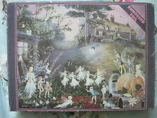 """VINTAGE """"BOTTOM OF THE GARDEN"""" 700 PIECE FOIL EMBOSSED JIGSAW PUZZLE."""