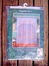 Vintage Wards English Rose Sheer Swag Curtains Floral NOS 90x38