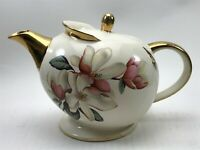 Beautiful Ellgreave Burslem Porcelain Teapot Collectable With Gold Gilt <CA03