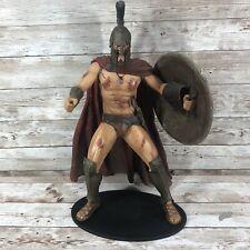 "Rare 12"" Large 2007 Neca 300 Movie King Leonidas Bloody Talking Figure Statue"