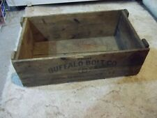 Buffalo Bolt Co. wooden crate or box