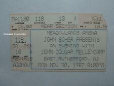 JOHN COUGAR MELLENCAMP 1987 Concert Ticket Stub MEADOWLANDS ARENA Rare NJ NY
