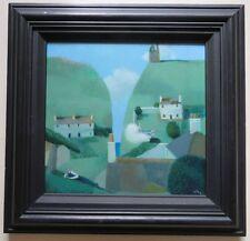 David Eustace RBA - British MODERN FINE signed oil painting Cornish Landscape