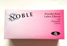 100Ct Latex Powder Free Noble Brand clear Disposable Gloves Large,Extra Large